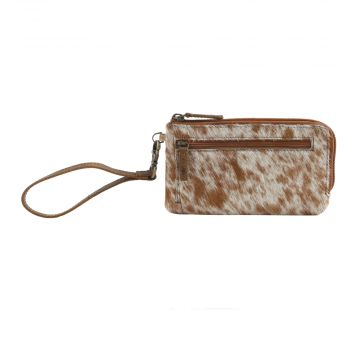 SAND ON BEACH LEATHER AND HAIRON WALLET