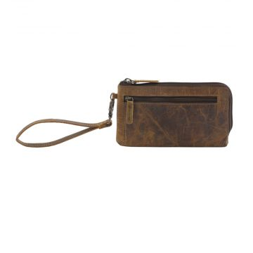 SUPER TAN  LEATHER AND HAIRON WALLET