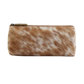 SANDY  LEATHER AND HAIRON MULTI-POUCH