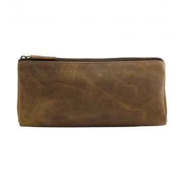 TRENDY TAN  LEATHER AND HAIRON MULTI-POUCH