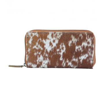 MILKY WAY  LEATHER AND HAIRON WALLET