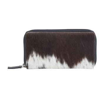 JUST TWEET LEATHER AND HAIRON WALLET
