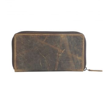 TAN FAN  LEATHER AND HAIRON WALLET