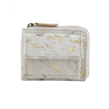 MARBLE MYSTERY LEATHER AND HAIRON WALLET