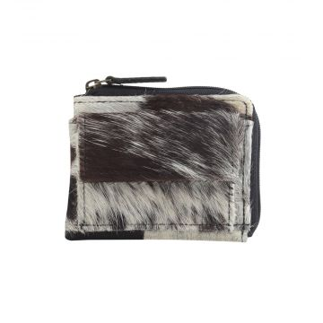 SILKY TOUCH  LEATHER AND HAIRON WALLET