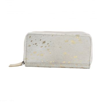 GOLDEN GARNISH  LEATHER AND HAIRON WALLET
