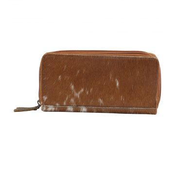 SAND DUNE  LEATHER AND HAIRON WALLET