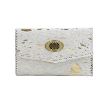 GOLD INDULGENCE LEATHER AND HAIRON WALLET