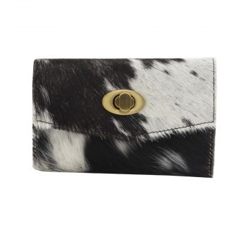 FUDGE FACTOR  LEATHER AND HAIRON WALLET