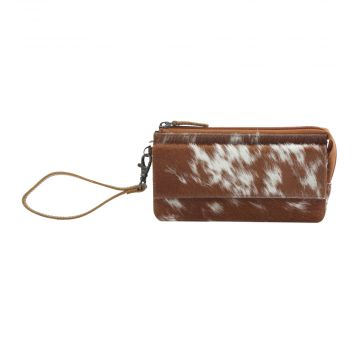 DEBATABLE LEATHER AND HAIRON WALLET