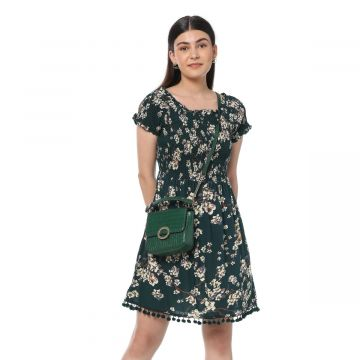 Greeny Floral Dress