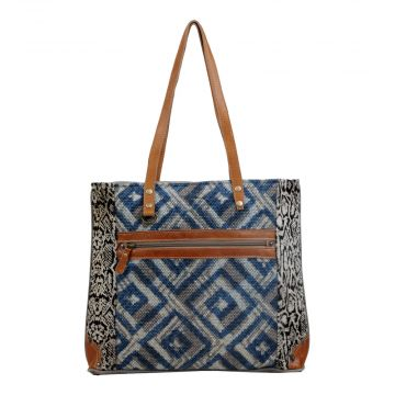 Rhombic Pattern Tote Bag