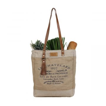 Old School Organic Fabric Market Bag