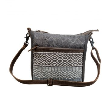 Chevron Patterned Cross-Body Bag