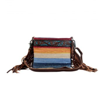 Etched Rainbow Hand-Tooled bag