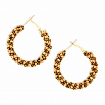 Golden knotted earrings