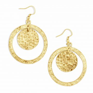 Intricate patterend earrings