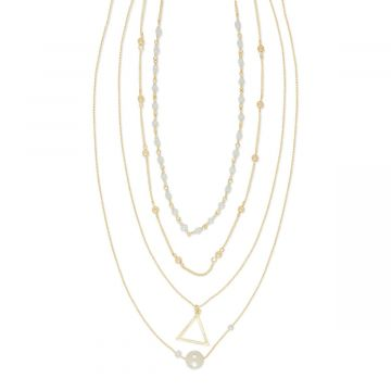 White aesthetic necklace