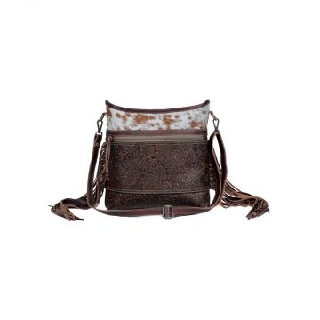 Classic Etchings  Leather & Hair On Bag