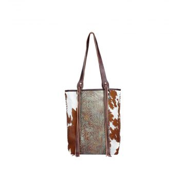 Embossed ferric Leather & Hair On Bag