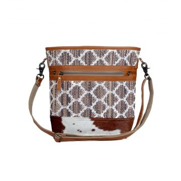 Rhombic patterned Shoulder Bags