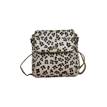 Quaint leopard print Leather & Hair On Bag