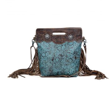 Blue Vine  Hand-Tooled Bags