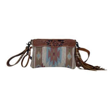 Brown tassles  Hand-Tooled Bags