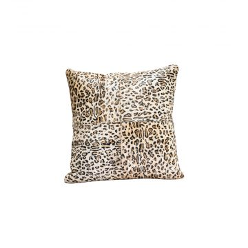 Majestic leopard print cushion cover