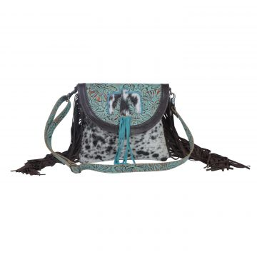 Cold blue hues  Leather & Hairon Bag