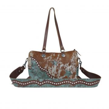 Turquoise Stars Concealed Bag