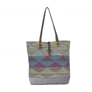 Multicolored waves  Tote Bag