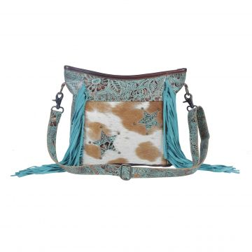 Luminous turquoise  Concealed Bag