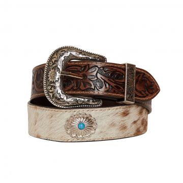 Mirky brown  Hand-Tooled  Leather Belt