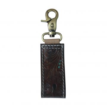 A speck of green Key Fob