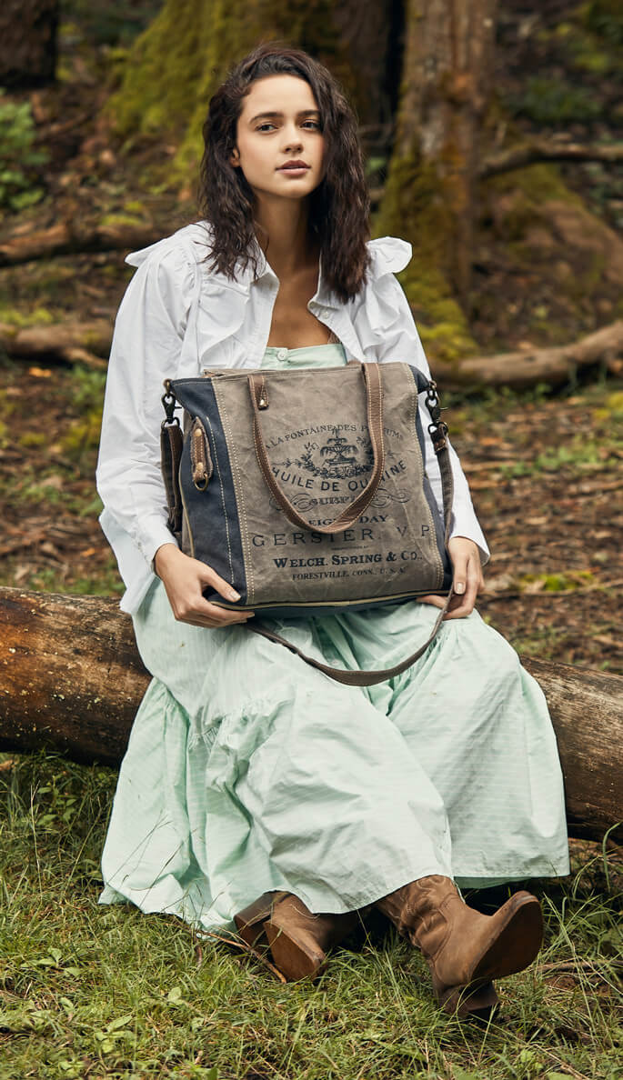 Up-Cycled Canvas Bags